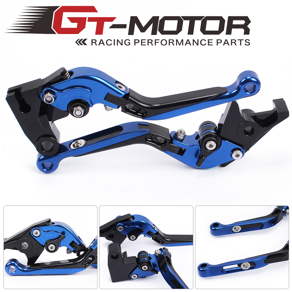 GT Motor - F-14/T-333P Adjustable CNC 3D Extendable Folding Brake Clutch Levers For TRIUMPH THRUXTON 16-17  STREET TWIN 2016-17 gt motor f 16 dc 80 adjustable cnc 3d extendable folding brake clutch levers for moto guzzi breva 1100 norge 1200 gt8v