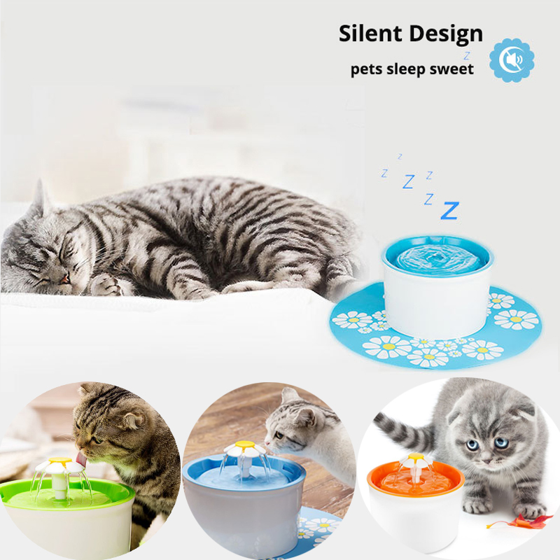 Automático perro gato eléctrico mascota bebedero Pet Bowl beber bebida dispensador de agua filtro