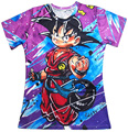 Lindo Kid Goku camisetas mujeres hombres Hipster 3D camiseta DBZ tees Graffiti pintura Anime Dragon Ball Z camisetas Casual tee shirts