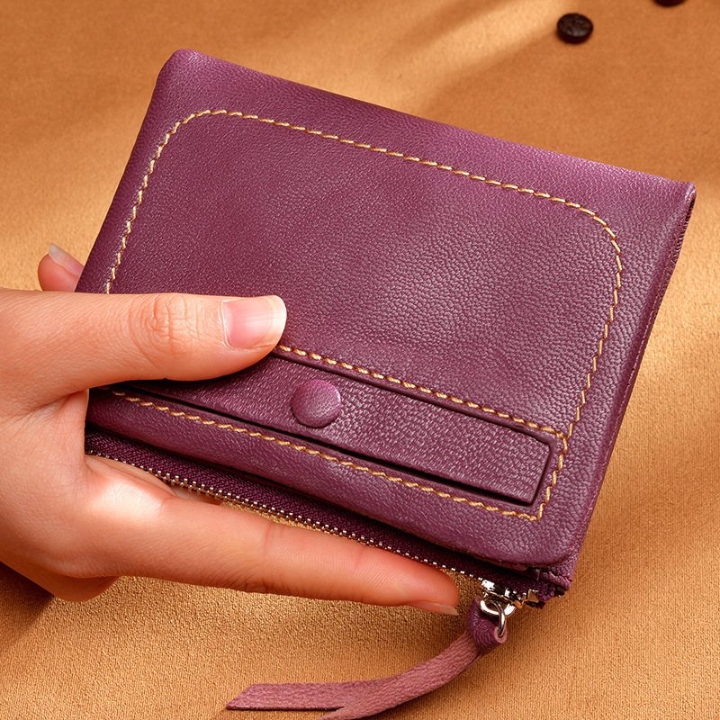 Soft and comfortable ultra-thin wallet sheepskin hand wallet short section Japan and South Korea leather wallet the new spring and summer ms south korea ensure their boots comfortable show female water thin antiskid tall canister shoe