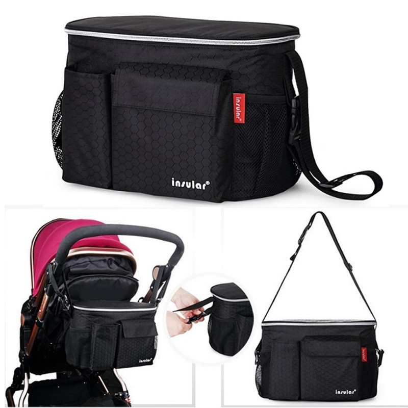 Insular Fashion Thermostat Maintaining The Temperature Stroller Bags Maternity Mother Diaper Bags Tote Shoulder Multifunctional
