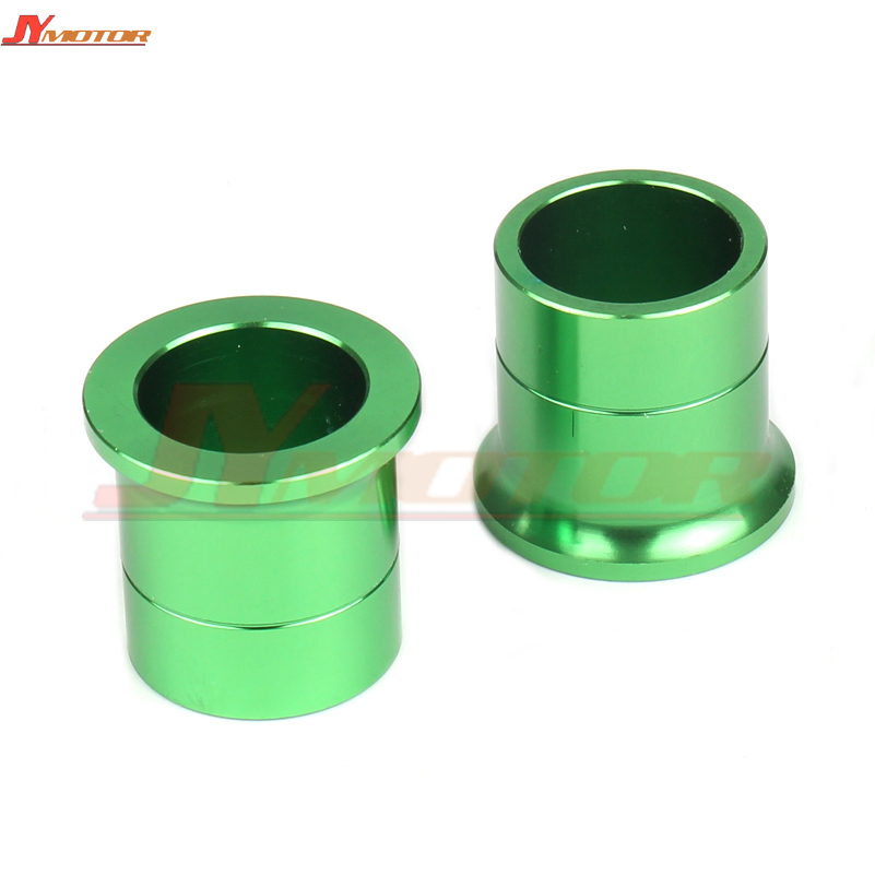 Motorcycle <font><b>parts</b></font> CNC Billet Front Wheel Hub Spacers For <font><b>KX125</b></font> KX250 2006-2008 KXF250 KXF450 2006-2014 image