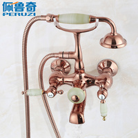 European Style Rose Shower Shower Faucet All Bronze Antique Shower Retro Independent Bathtub Faucet