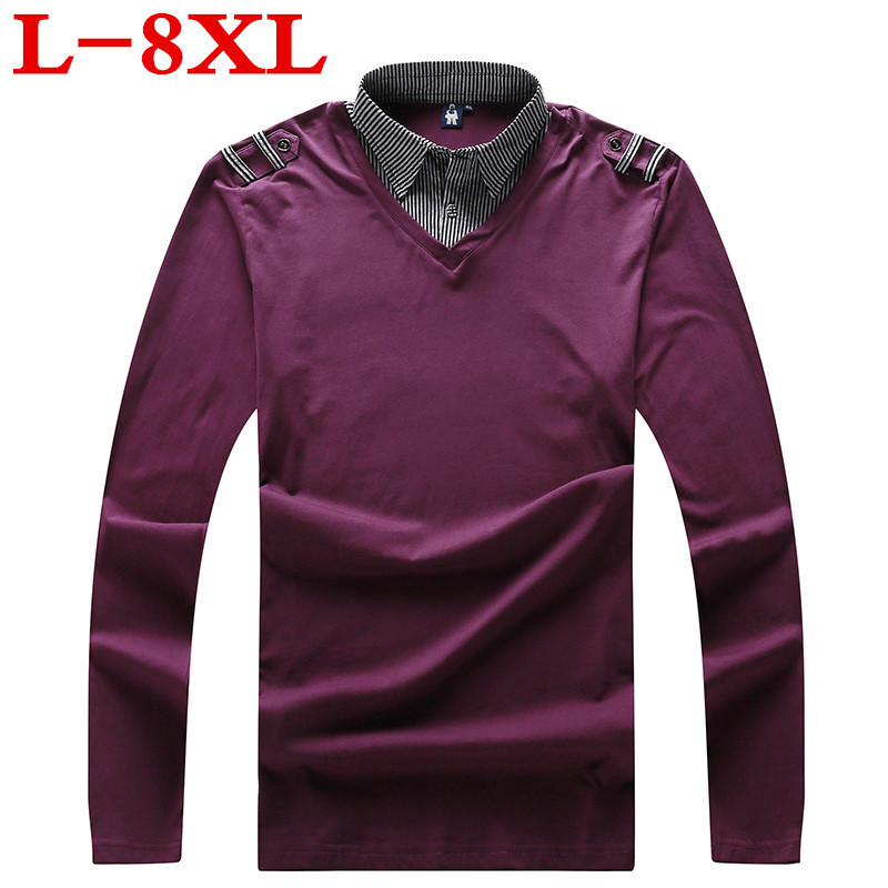 Plus size 2018 new 8XL 7XL 6XL 5XL Mens Fashion Brand High Quality Long Sleeve Solid   Polo   Shirt Camisa Masculina free delivery