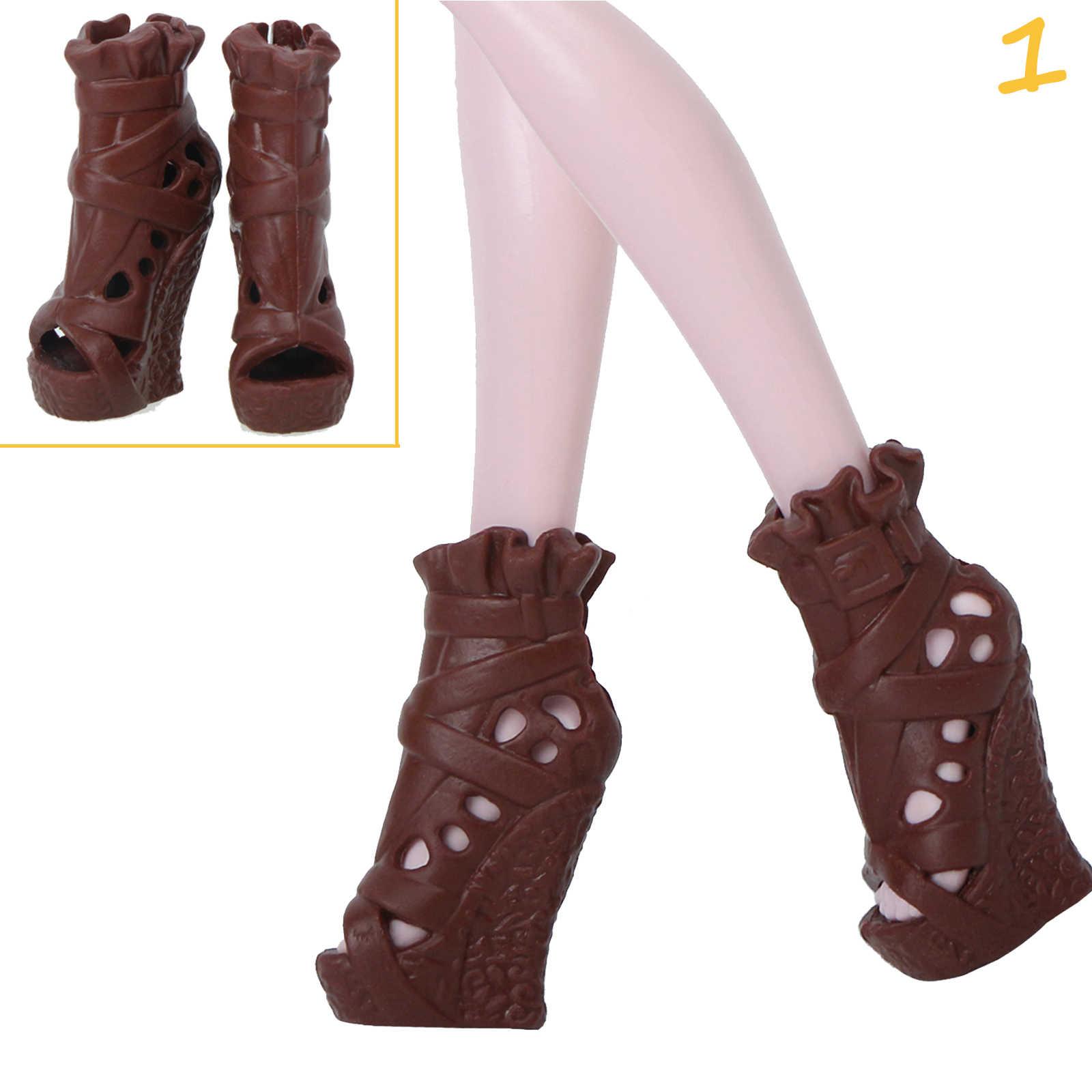 1 çift/5 Pairs moda ayakkabılar Çizmeler Sandalet Yüksek Topuklu Elbise Giysi Aksesuarları için Canavar Yüksek Bebek 10 inç oyuncak bebekler