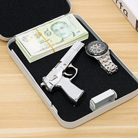 2018 Portable Car safes Pistol boxes Cash jewelry box safes Passwords type Key type Birthday Gifts New Year Gifts For Valuables