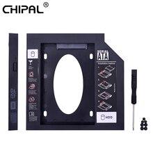 Переходник CHIPAL для второго жесткого диска, 9 мм, 9,5 мм, 12,7 мм, SATA 3,0 для 2,5 дюйма, чехол для жесткого диска, адаптер для ноутбука, CD, DVD-ROM Optibay