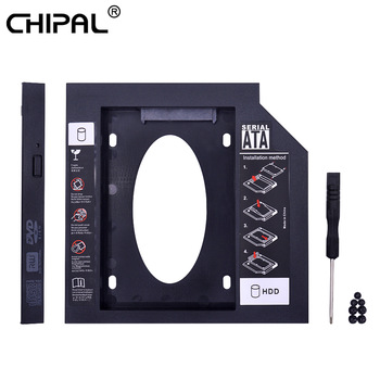 CHIPAL Second 2nd HDD Caddy 9MM 9.5MM 12.7MM SATA 3.0 for 2.5'' SSD Case Hard Disk Drive Adapter for Laptop CD DVD-ROM Optibay 1