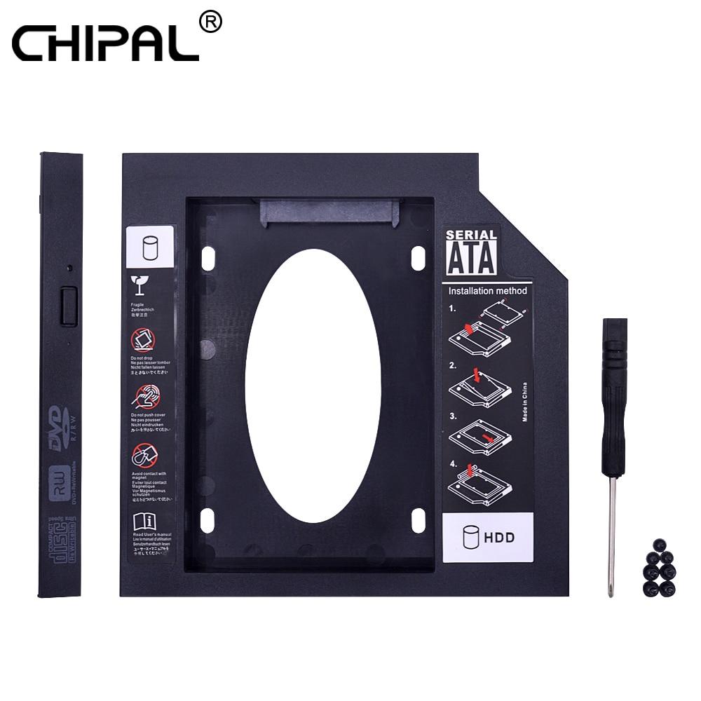 Chipal universal segundo 2nd hdd caddy 12.7mm sata 3.0 para 2.5 ssd ssd ssd caso adaptador de disco rígido para portátil cd DVD-ROM optibay