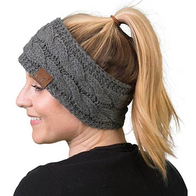Women Winter  Solid Wide Knitting Woolen Headband Warm Ear Crochet Turban Hair Accessories For Women Girl Hair Band Headwear 4
