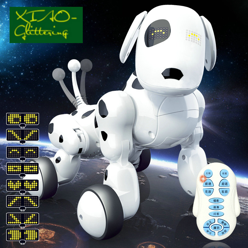 24g Télécommande Sans Fil Chien Intelligent électronique Pet éducatif Jouet Pour Enfants Russe Danse Robot Chien Cadeau Danniversaire