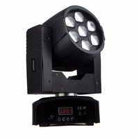 Zoom wash Zoom di chuyển đầu 7x12 Wát RGBW 4in1 LED moving head Mini DJ dmx stage ánh sáng