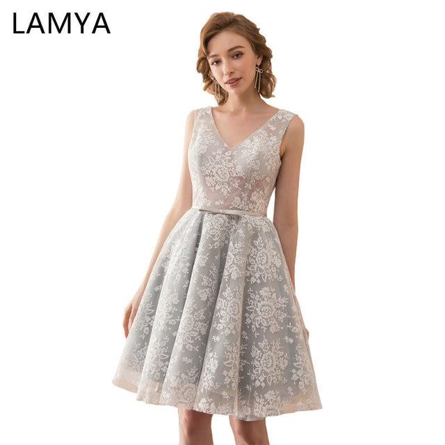LAMYA 2018 100% Original Photo Backless Prom Dresses Sexy V Neck ...