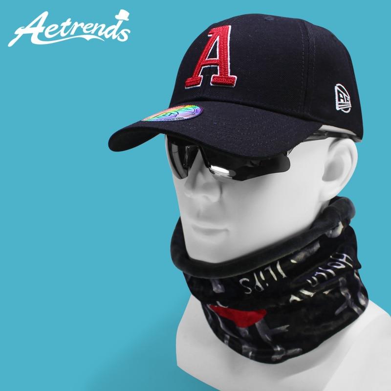 [AETRENDS] 2019 Windproof Sport   Baseball     Cap   with Neck Warmer Hats Mask Outdoor   Baseball     Caps   for Men Women Cotton Hat Z-6606