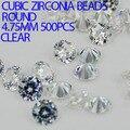 Crystal Clear Color AAAAA Cortes Brillantes Forma Redonda Perlas de Circonio Cúbico Piedras Para La Joyería Del Clavo de Diy Decoraciones del Arte