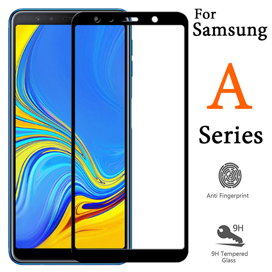For samsung galaxy a5 2018 glass a6 a7 a8 a9 protective tempered film screen protector a750 a 5 6 7 8 9 5a 9a <font><b>a82018</b></font> a52018 glas image