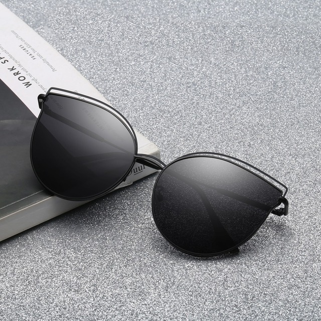 49dbbcf751e Women Fashion Sunglasses Butterfly Shape Sun Glasses Polarized Alloy Frame  Mirror Eyewear Goggle Women Driving Sunglasses UV400