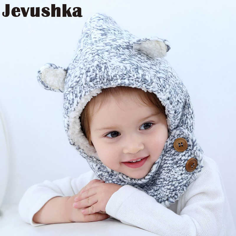 0b7641fd2c5 Winter Knit Baby Hat Girls and Boys Beanie Pompom Hats with Warm Fleece  Lining Cute Ears