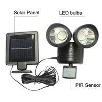 Solar Powered Panel LED Street Light PIR Motion Sensor Lighting Outdoor Waterproof Path Wall Emergency Security