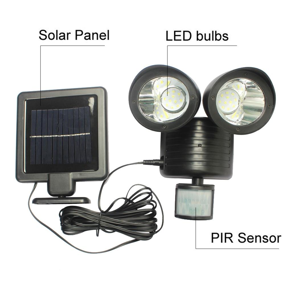 22 <font><b>LED</b></font> Solar Lamp Solar Light High Power Outdoor Waterproof Street Light PIR <font><b>Motion</b></font> Sensor Security Lighting Solar Wall Lamps