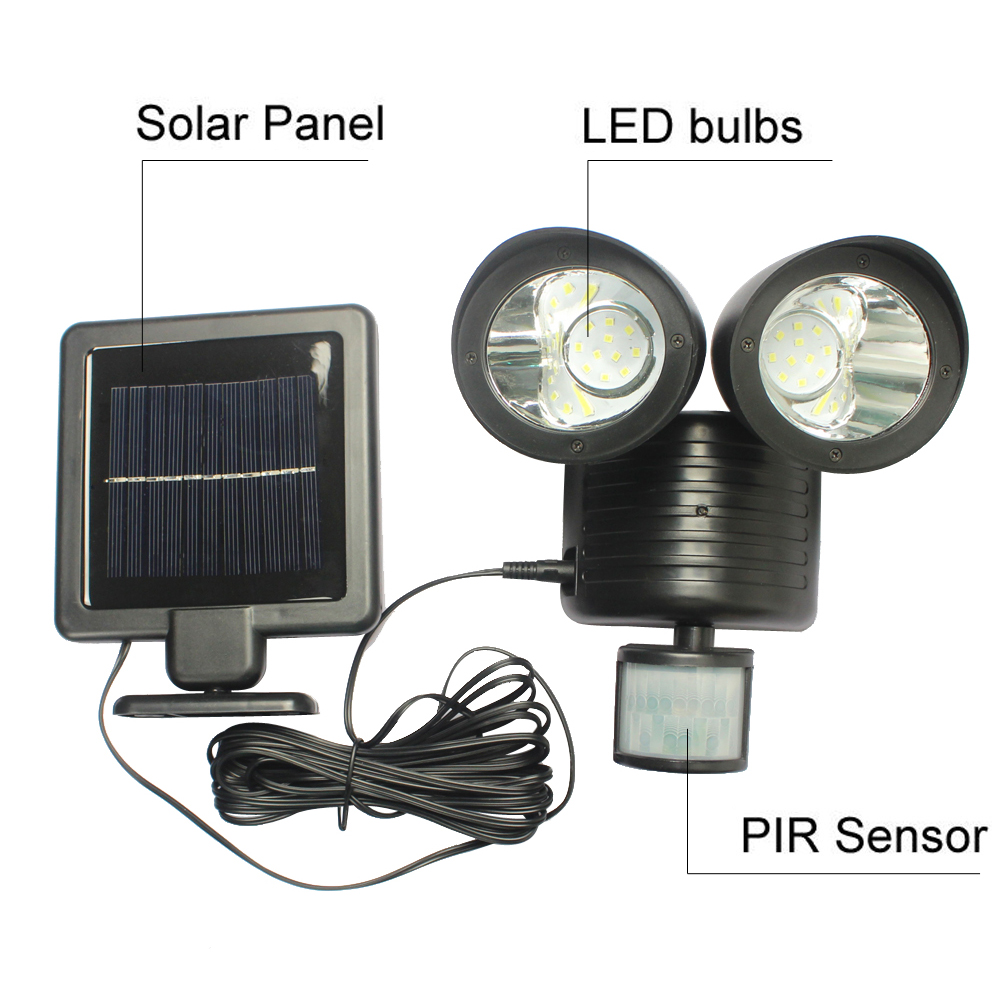 22 LED Solar Lamp Solar Light High Power Outdoor Waterproof Street Light PIR Motion Sensor Security Lighting Solar Wall Lamps