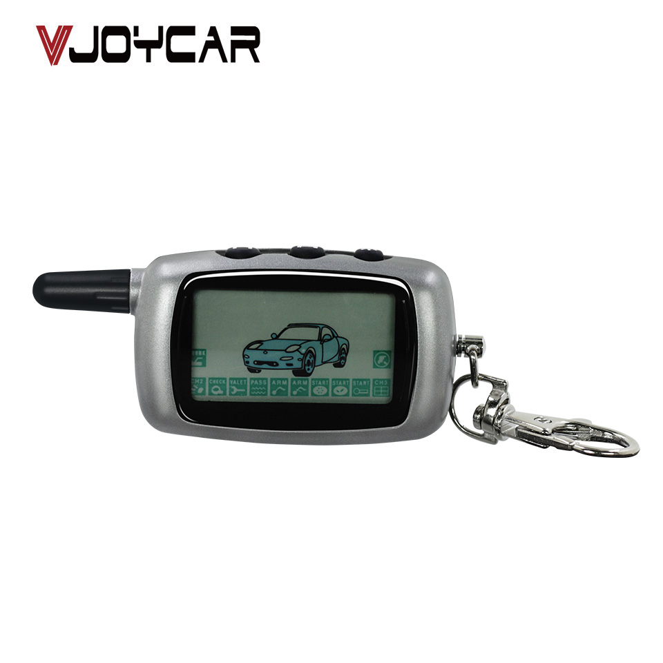 <font><b>A9</b></font> Keychain For <font><b>Starline</b></font> Russia Version <font><b>A9</b></font>/A6/A8 <font><b>Twage</b></font> Two-Way Car Burglar Alarm System LCD Remote Controller Fob Chain image