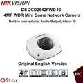 Hikvision original inglês versão wdr mini câmera dome ip surveillance camera 4mp ds-2cd2542fwd-is ip67 poe áudio cctv camera