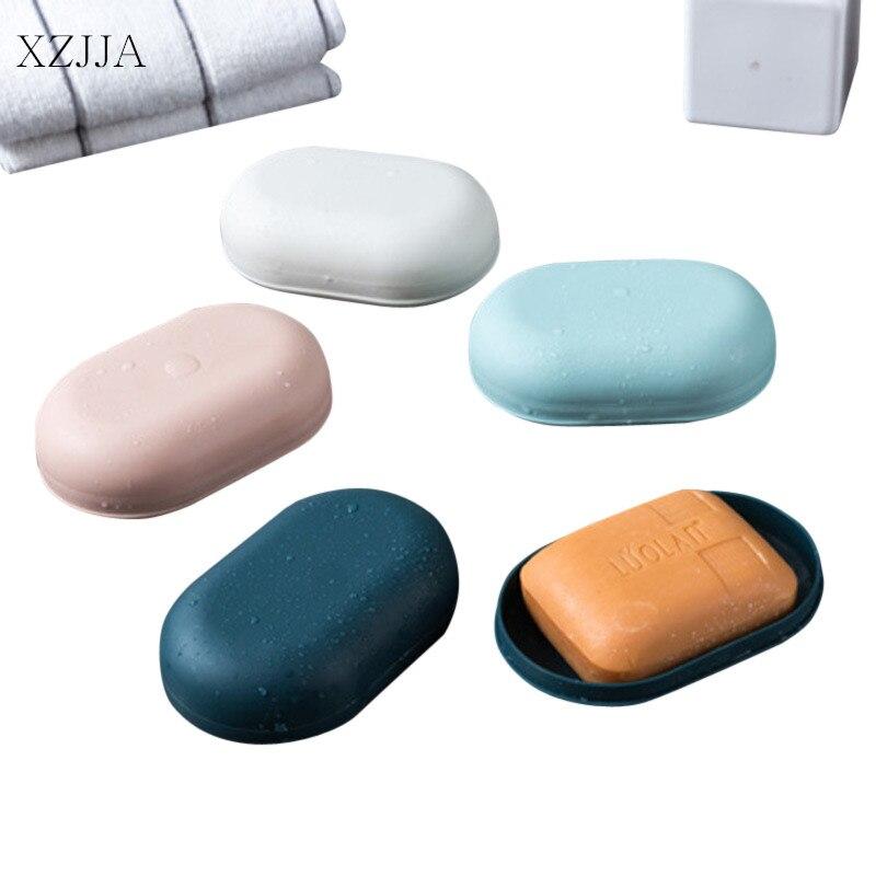 XZJJA Bathroom Waterproof Soap Dish With Cover Portable Outdoor Travel Soap Organizers Case Soap Holder Bathroom Supplies