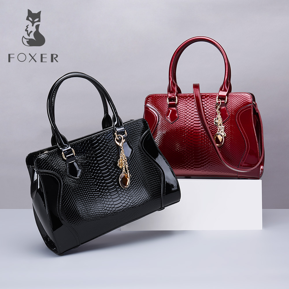 где купить FOXER Brand Article Women's Handbags Leather Luxury Handbag Shoulder Bag Crossbody Bag All-purpose Purse Large Capacity Tote дешево