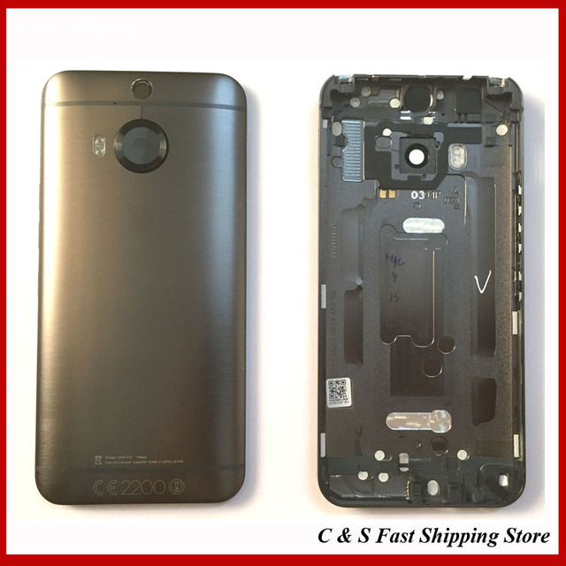 free shipping e0e5a 07ef2 US $34.9 |new For HTC One M9 Plus M9+ Back Cover Battery Door Housing Case  For HTC One M9 Plus Repair Parts Replacement with Logo-in Mobile Phone ...