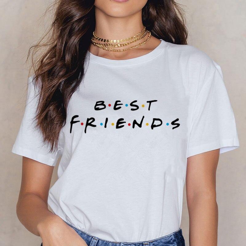 Friends TV Harajuku Women T Shirt Tv Show Tshirt Steetwear Vogue T-shirt 90s Vintage Girl Tshirt Summer Fashion Top Tees Famale