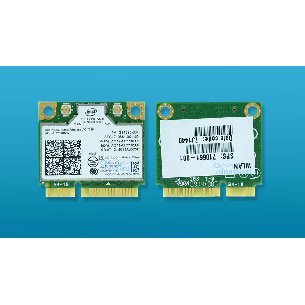 Новый для Intel Dual Band Беспроводной AC 7260 Intel7260 7260HMW 7260AC 2.4 и 5 г 867 м BT4.0 minipcie Wi-Fi Беспроводной сетевой карты