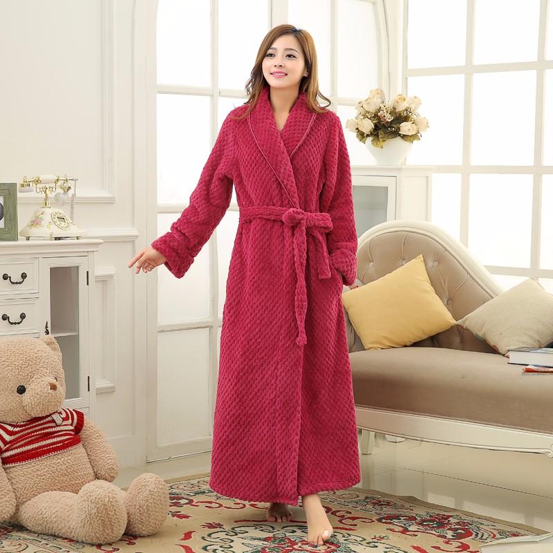 1793a7f0d4 Hot Sky Blue Robes Badjas Women Solid Color Long Sleeve Terry Cotton Sleep Robe  Bathrobe Peignoir De Bain Femme Womens RobesUSD 21.43 piece