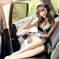 Encaje perspectiva atractiva envío gratuito MM grasa vestido de limpieza uniformes de limpieza tentaciones lencería Sexy traje femenino 9890