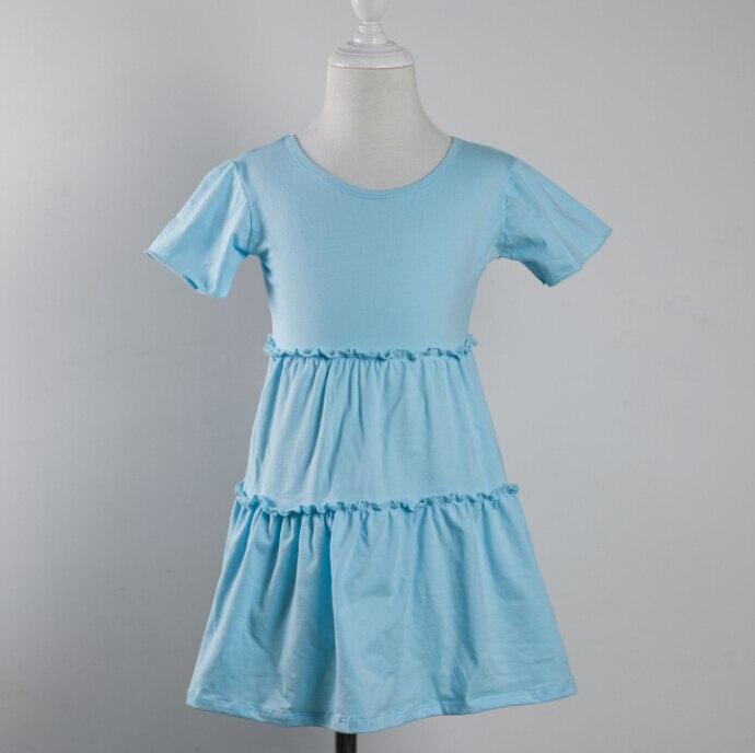 Милый ребенок торт платье для 0-12 лет девочки носят новый рябить платье с коротким рукавом