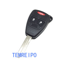 3 Buttons Remote Key Fob Shell Case Cover For Chrysler Dodge Caliber Jeep Patriot Pacifica Liberty