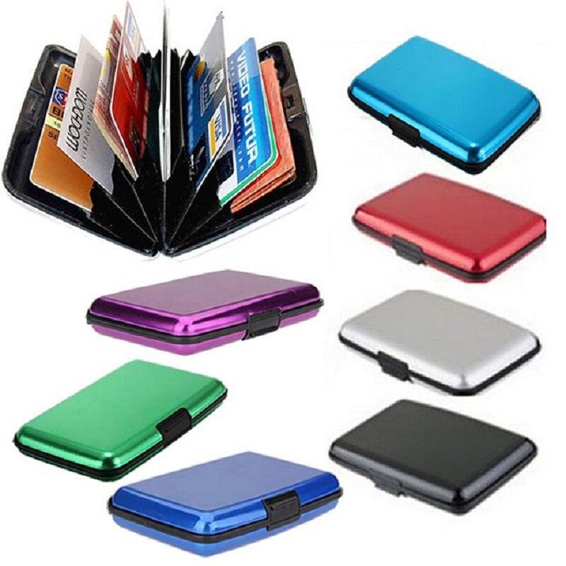 Sammlung Hier Solide Business Id Kreditkarte Metall Mini Karte Wasserdichte Business Starke Karte Tasche Eleganter Auftritt