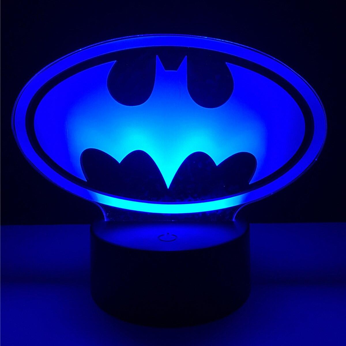 3D bat Acrylic LED Lamp 3D Baby Night Light Sleeping Lighting gift For Children Night Light Xmas New Years