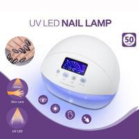 1PC 50W LED UV Nail Lamp Nail Dryer Automatic Sensor Nail Art Gel Polish Curing Machine US Plug 3 Timer Setting 5U1218
