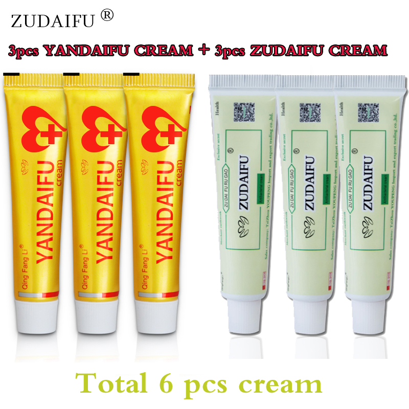 3pcs ZUDAIFU Original Psoriasis Dermatitis Eczema Pruritus Skin Problems Cream+3pcs Yandaifu Cream Skin Care Without Retail Box