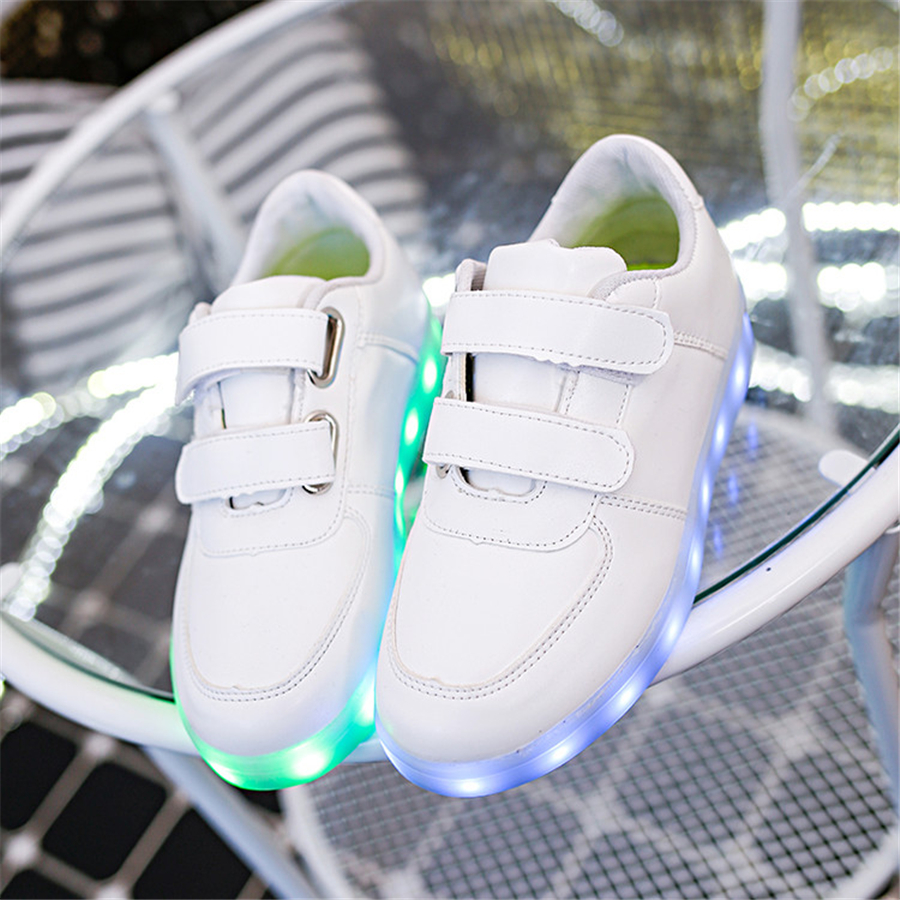 Luminous Sneakers Casual Shoes Glowing Led Running Shoes Breathable Children Light Up Sneakers Kids Led Luminous 50Z0061 new hot sale children shoes pu leather comfortable breathable running shoes kids led luminous sneakers girls white black pink