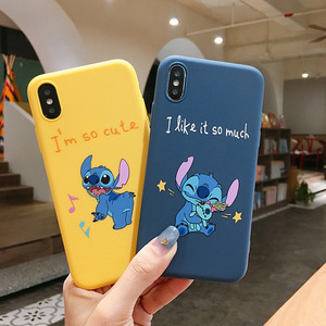 Cartoon Stitch Soft TPU Phone Case For iPhone 6S 6 8 7 Plus Case Matte Back Cover Coque For iPhone X XS Max XR 5S SE Cases Capa(China)