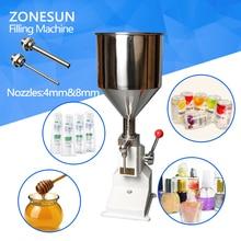 ZONESUN High quality manual cosmetic paste liquid filling machine cream filler 5 50ml