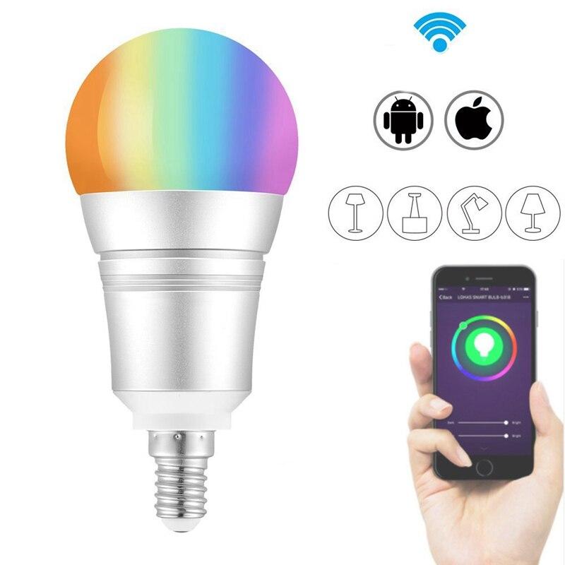 ARILUX E27 E14 B22 9 watt RGB + Warm Weiß WIFI LED Smart Glühbirne 810LM Arbeit mit Alexa Stimme control AC110-255V