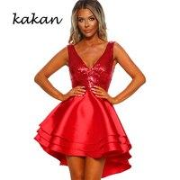 7cc1ffba44122e Kakan 2019 Spring New Women S Sequins Dress Club Party Sexy V Neck Short  Short Dress. Bekijk Aanbieding. Gagaopt Vintage Jurk Vrouwen ...