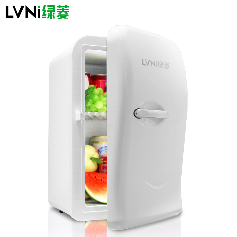 17L Portable Car Refrigerator Household Single Door Refrigerator Double Layer Design Low Noise Refrigeration Heating Two In One