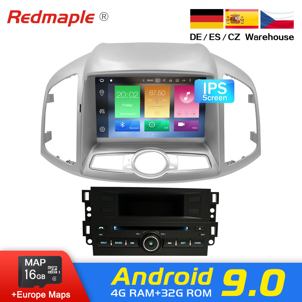 Android 9.0 Car Radio DVD GPS Navigation Multimedia Player For Chevrolet Captiva Epica 2012 2015 Auto Audio WIFI Video Stereo