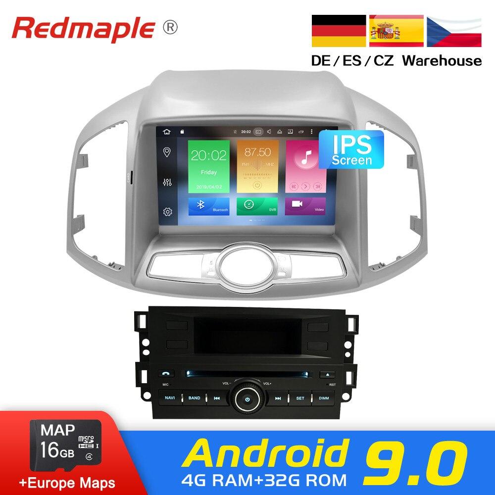 Android 9.0 Car Radio DVD GPS Navigation Multimedia Player Para Chevrolet Captiva Epica 2012-2015 Auto Áudio De Vídeo WI-FI fone de ouvido estéreo