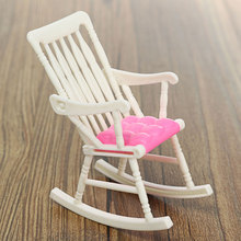 1 Pcs Mini Doll Rocking Chair Accessories For Doll House Room Dollhouse Decoration Rocker Toys Children