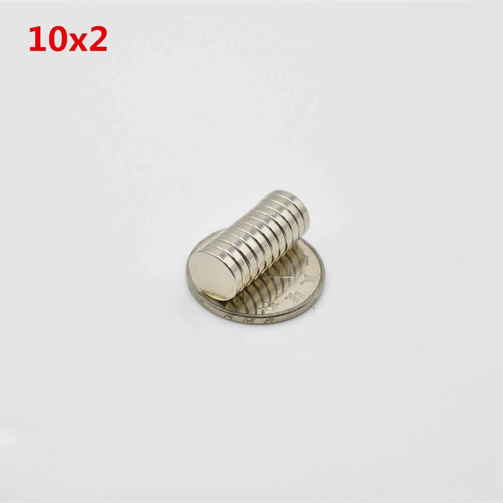 "30 pcs 10*2mm קטן roud חזק neodymium מגנט 10x2 מ""מ נדיר Earth בלוק NdFeB קבוע 10mm x 2mm מקרר מגנטי"
